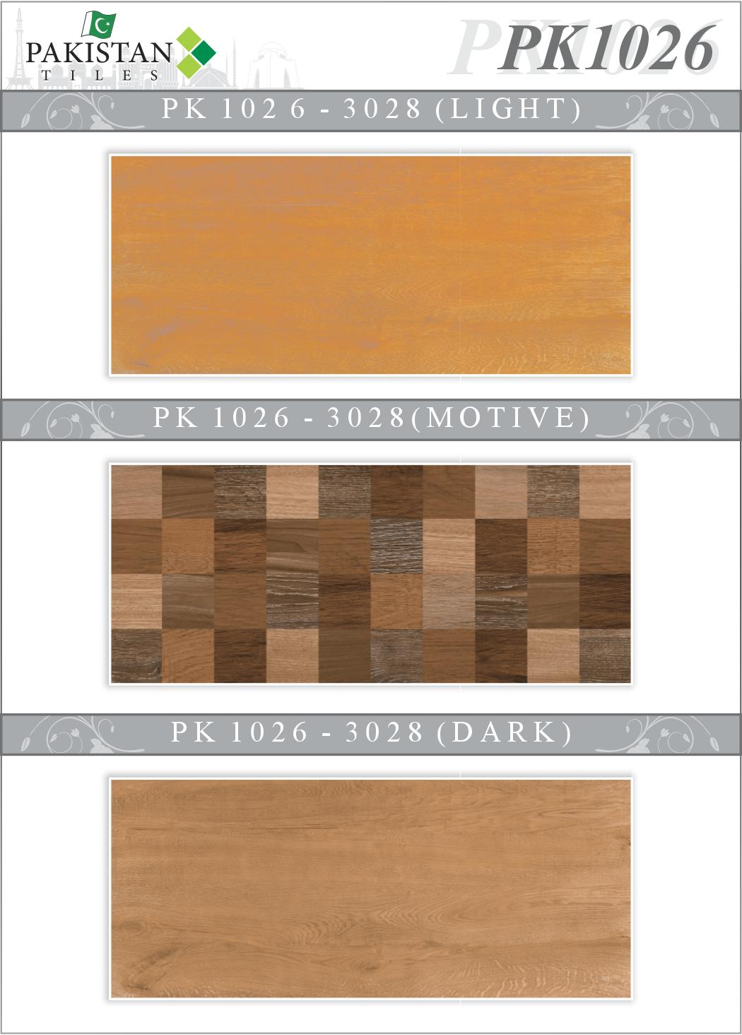 Wooden Brown And Light Brown With Motif Texture Ceramics