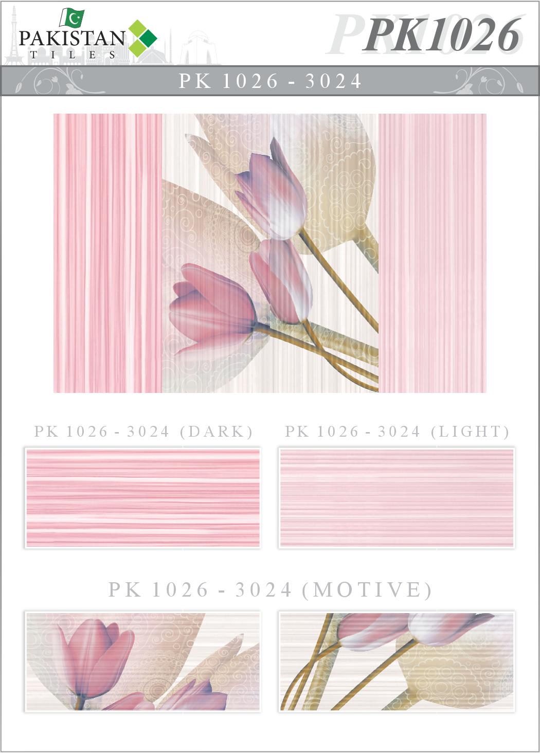 Lines Pink Amp Light Pink With Double Flower Motif Texture