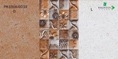 Marble Chips Brown and Light Beige with Motif Texture  Ceramics Wall Glossy Tiles