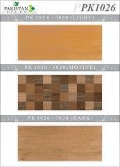 Wooden Brown and Light Brown with Motif Texture  Ceramics Wall Tiles