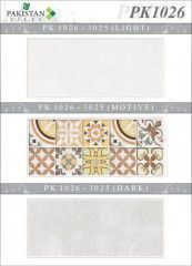 Stone Light Grey and Grey with Motif Texture  Ceramics Wall Tiles