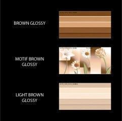 Artistico Inkjet Wall Tiles (ART-015) Brown Color