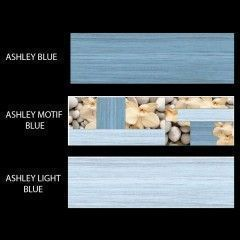 Ashley - Chic Inkjet Wall Tiles (Blue Color)