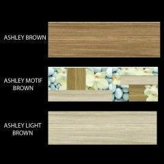 Ashley - Chic Inkjet Wall Tiles (Brown Color)