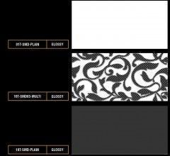 Ceramics Plain Color Tiles with Black & White Motif