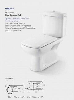 Toilet Washdown Close-Coupled HD201N/C