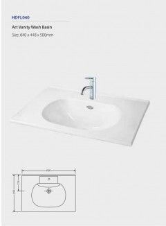 Art Vanity Wash Basin HDFL040 Fixing above counter