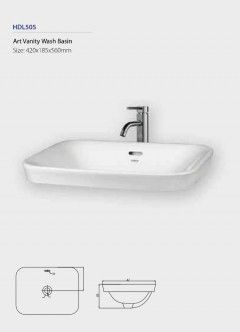 Art Vanity Wash Basin HDL505 Fixing above counter